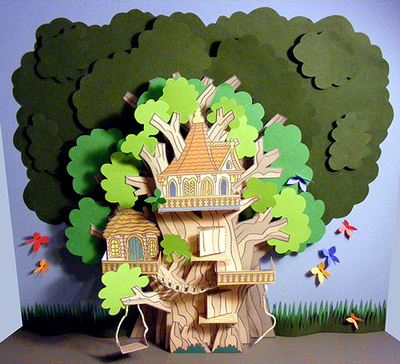 3D Paper Tree House My Little