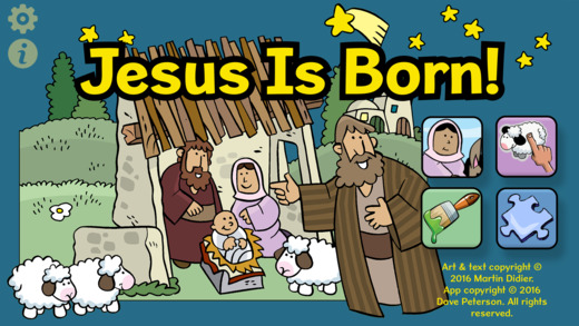 Jesus is born app My Little