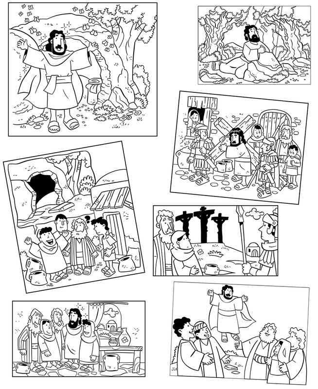 Coloring Pages The Easter Story My Little House