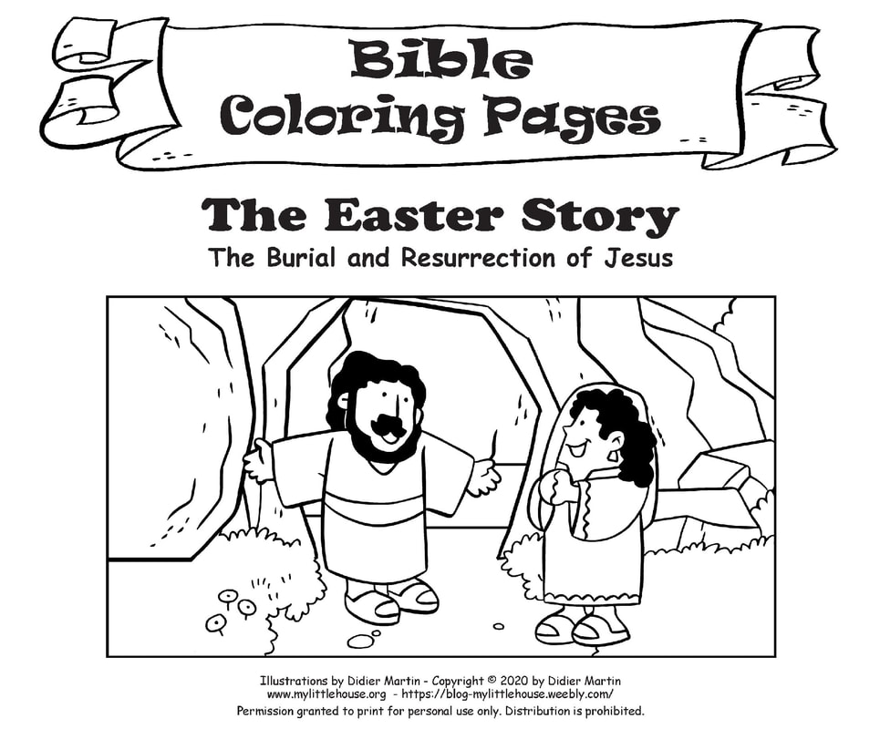 Easter Bible Coloring Pages - My Little House